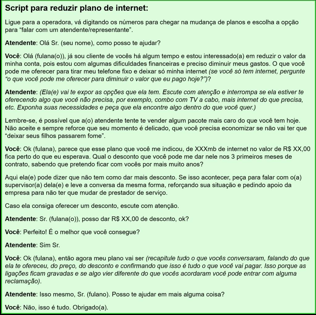 Script escrito para reduzir o primeiro gasto do controle de gastos proposto neste post, que é o plano de internet.